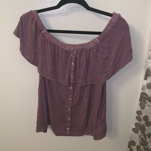 American Eagle Mauve Off the Shoulder Soft & Sexy